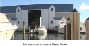 Safe and sound at Harbour Towne Marina